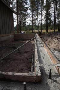 Stemwalls - Concrete poured walls.